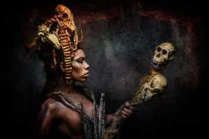 PhotoVivo Honor Mention e-certificate - Manfred Kluger (Germany)  Voodoo Queen-1