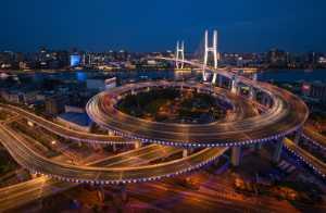 FIP Ribbon - Jianye Yang (China)  Nanpu Bridge At Night