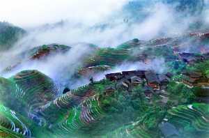 PhotoVivo Honor Mention e-certificate - Tong Hu (China)  Mist Mountain Village