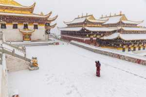ICPE Honor Mention e-certificate - Jianxi Liu (China)  Temple In The Snow