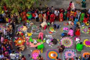 PhotoVivo Gold Medal - Venkateswaran Radhaswamy (India)  Rangoli Mylapore Festival2
