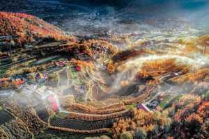 PhotoVivo Gold Medal - Jing Li (China)  Village In Fall
