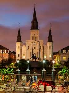 PhotoVivo Honor Mention e-certificate - Donald Dedonato (USA)  St Louis Cathedral Night